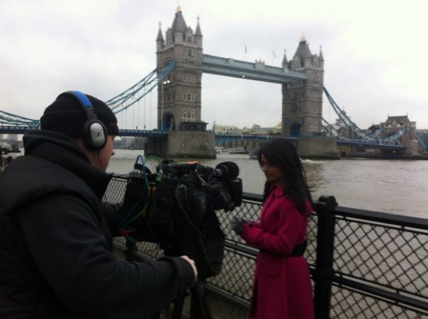 I never get tired of filming near the best looking bridge in London - Tower Bridge.