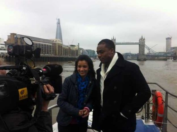 This episode of British Olympic Dreams had a water theme so we filmed all of our links while on a boat.