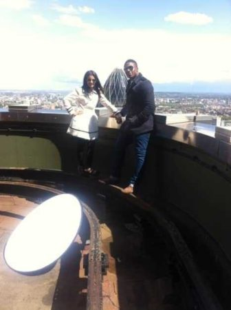 The production team found this rooftop in the City of London which had a great view of the capital's skyline.