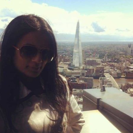 Everytime we see the Shard, Ore insists we take a photo of me with it.
