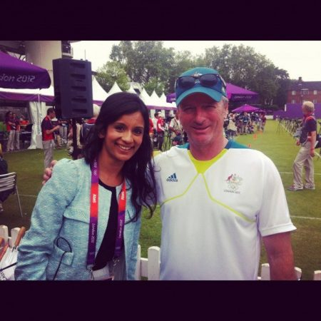 I wasn't expecting to spot Steve Waugh at Lord's during the archery competition. It turns out he was there to mentor the Australian team.