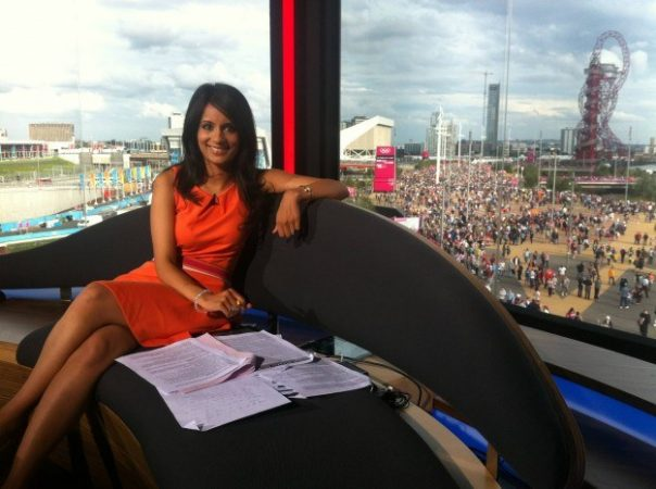 I was on standby in the studio while other presenters were out at venues on 100m final night.