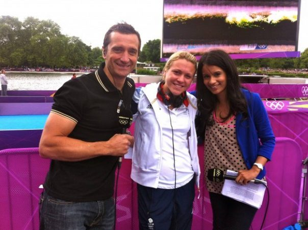 I was joined by Graham Bell and Vicky Holland (who competed in the women's race) for the men's triathlon in Hyde Park.