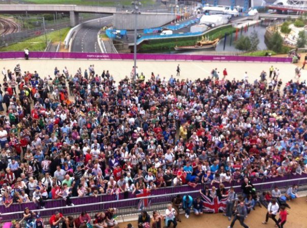 The crowds in Olympic Park were fantastic. They always seemed to know when we had an Olympic medallist in one of the BBC studios!