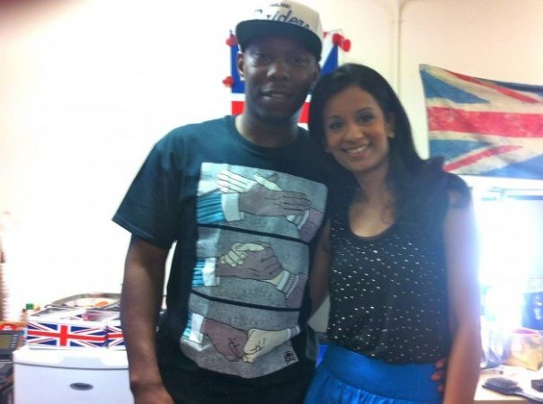 After his performance at the Olympic opening ceremony, Dizzee Rascal came into the BBC studios for a chat. I met him in the green room.