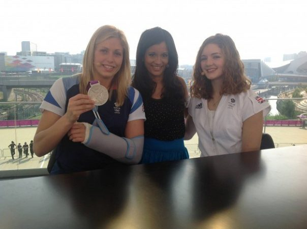 After they finished competing, judo fighter Gemma Gibbons came in to talk about winning an emotional silver medal which she dedicated to her mum. I also interviewed gymnast Jennifer Pinches about her 2012 experience.