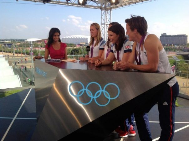 After winning bronze at the Games, four members of the GB women's hockey squad came in to the BBC Three studios with their medals.