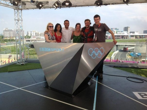 This photo was taken on the final day of the Olympic Games. This was the whole studio crew!
