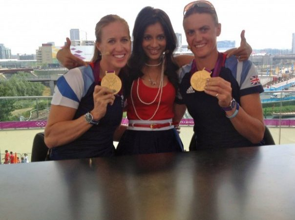 Helen Glover and Heather Stanning came to the BBC Three studios to show off their gold medals. Not only did they win the first gold for Team GB at London 2012, but they made history by becoming the first British women to win a Olympic rowing title.