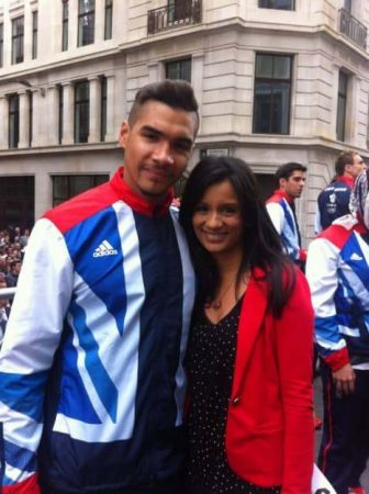 I first met the gymnast in Beijing, where he won a bronze medal. Louis Smith took team bronze and individual silver in London.