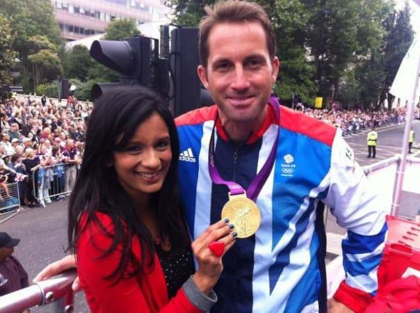 The world's best Olympic sailor said I should wear his medal for this photo - I didn't feel worthy enough for that!