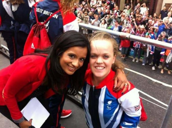 Paralympic champion Ellie was overwhelmed by the crowds screaming her name during the parade route