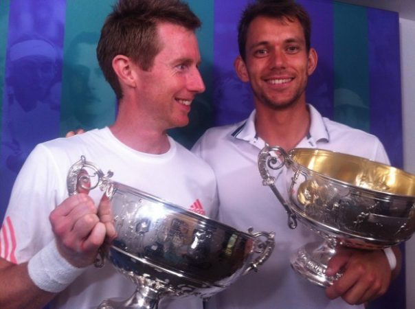 Jonathan Marray became the first Briton to win the Wimbledon men's doubles title for 76 years after victory with wildcard partner Frederik Nielsen. I interviewed them after their final.