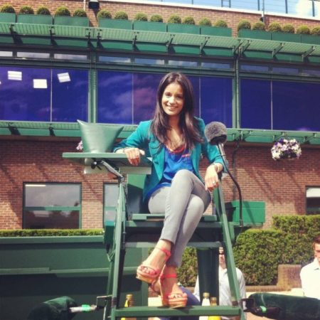 I was allowed to sit on court 14's umpire chair before play started