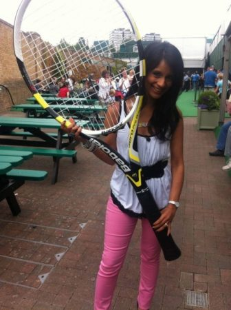 I found this racquet in the interactive area of Wimbledon.