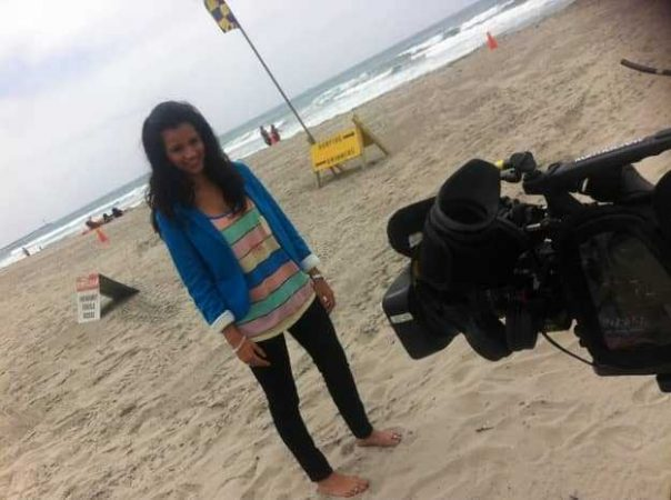 Filming on Mission Beach