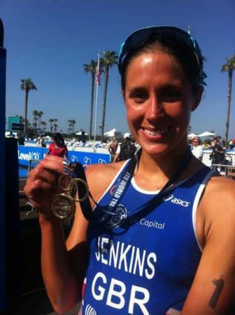 Great Britain world champion Helen Jenkins dominated in San Diego to take the gold medal