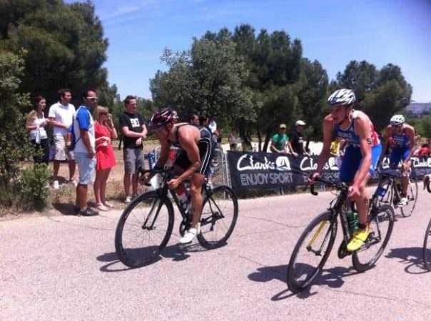 This is Jonny mid-race. Madrid is one of his favourite triathlon courses in the world