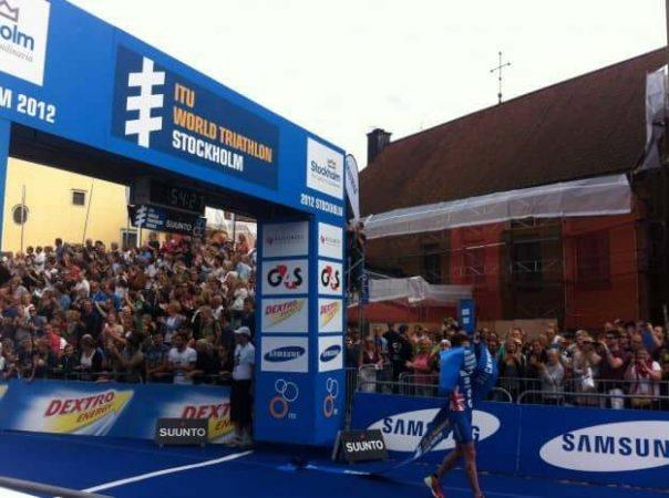 Jonny Brownlee won the men's race in the Swedish capital
