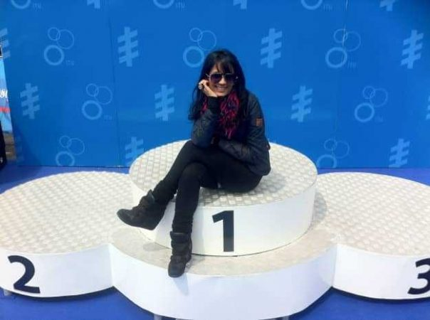 This is the only way I'll ever top the podium...by sitting on it when no one is looking
