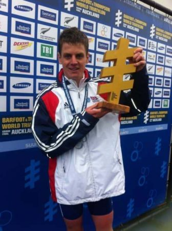 Olympic bronze medallist Jonny Brownlee was crowned world champion in Auckland.