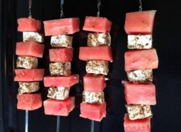Watermelon and feta treats